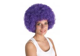Perruque pop géante violette
