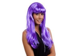 Perruque lola longue violette