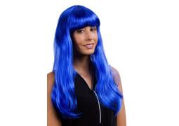 Perruque lola longue bleue