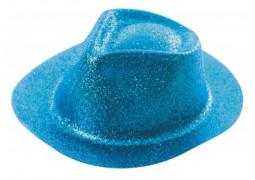 Chapeau borsalino paillettes turquoise