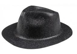 Chapeau borsalino paillettes noir