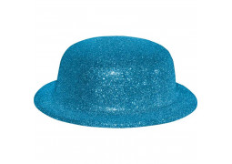 Chapeau melon paillettes or