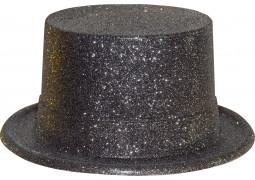 Chapeau haut de forme paillettes noir