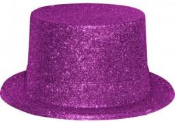 Chapeau haut de forme paillettes fuchsia