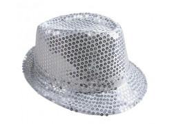 Chapeau borsalino sequin argent