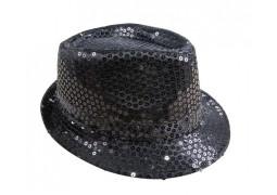 Chapeau borsalino sequin noir