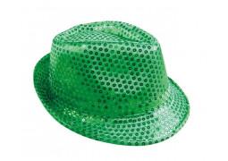 Chapeau borsalino sequin vert