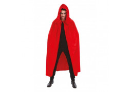 Cape adulte velours rouge