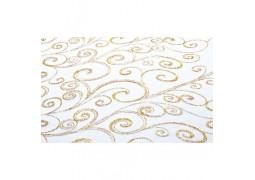 Chemin de table arabesques blanc et or